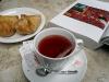 Chá de Morango com Trouxinha de Ricota e Tomate Seco